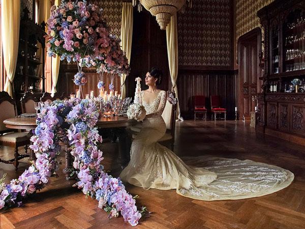 Wedding photographer St Albans Herts shoots a bridal portrait