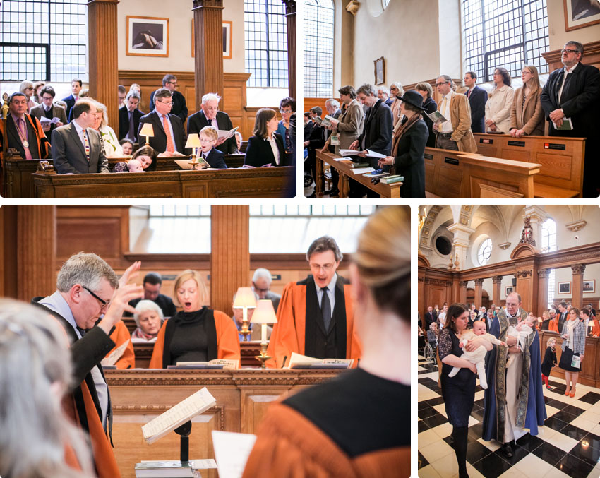 Choral singing at St Brides Church - Christening Photography in London 01