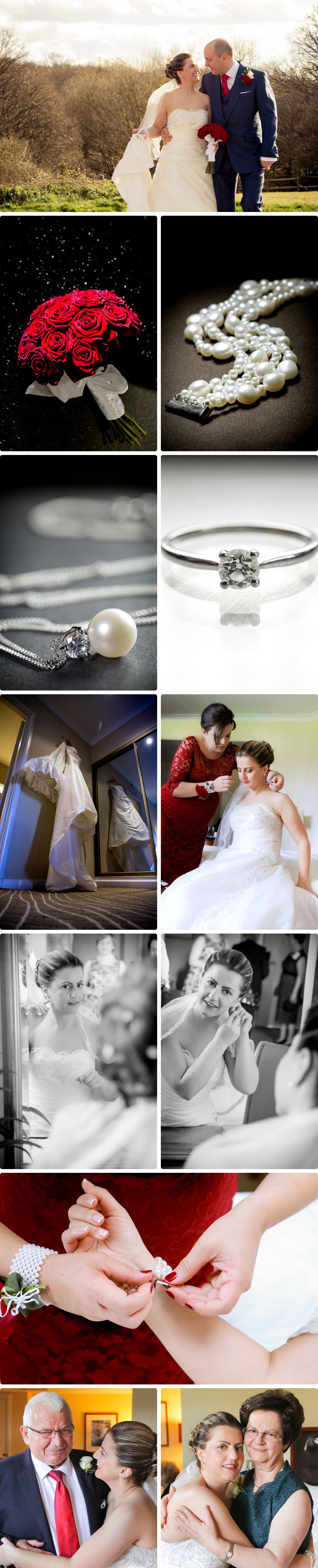 Lena's preparation - Wedding at Waltham Abbey Marriott Hotel 01