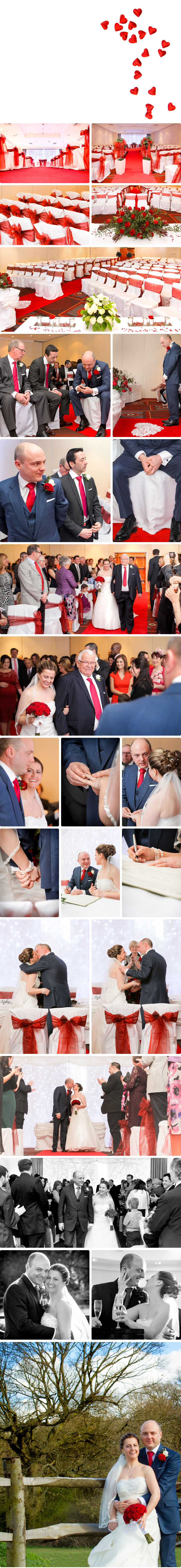 Ceremony, decoration and snapshots - Wedding at Waltham Abbey Marriott Hotel 03