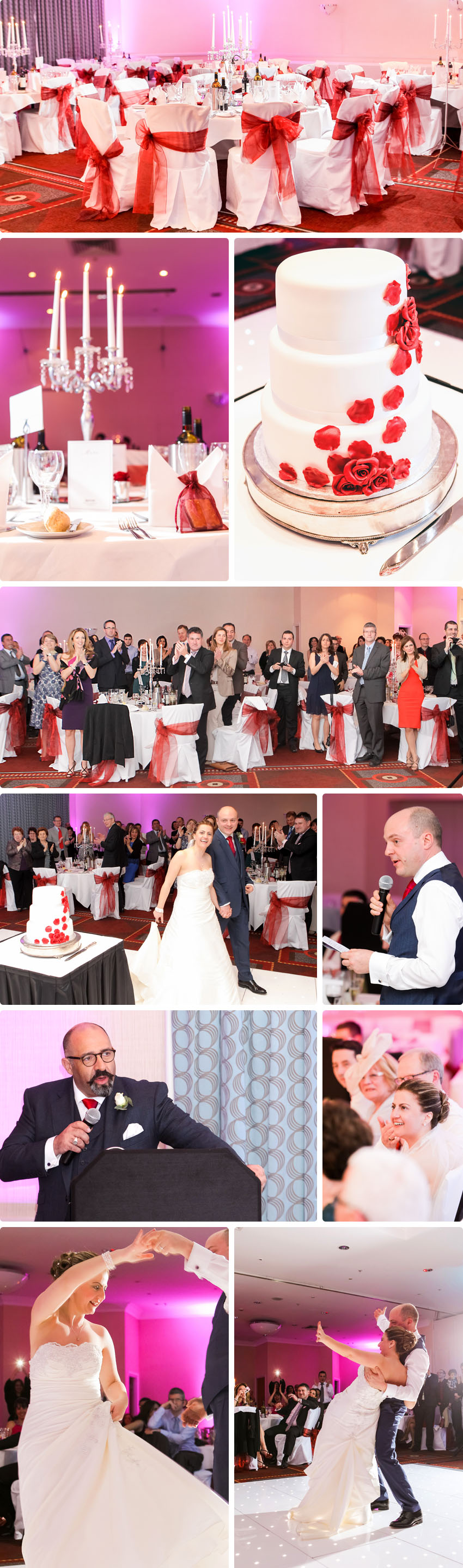 Reception snapshots - Wedding at Waltham Abbey Marriott Hotel 05