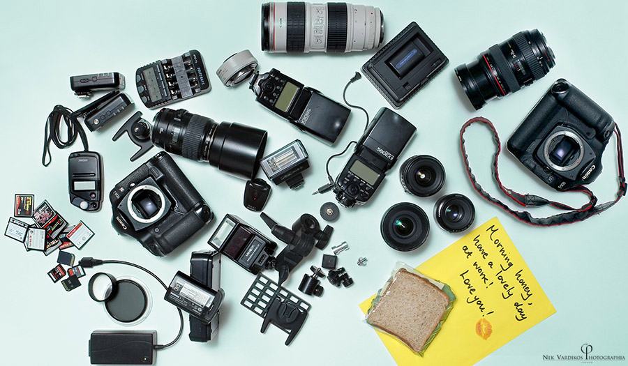Wedding Photographer's equipment