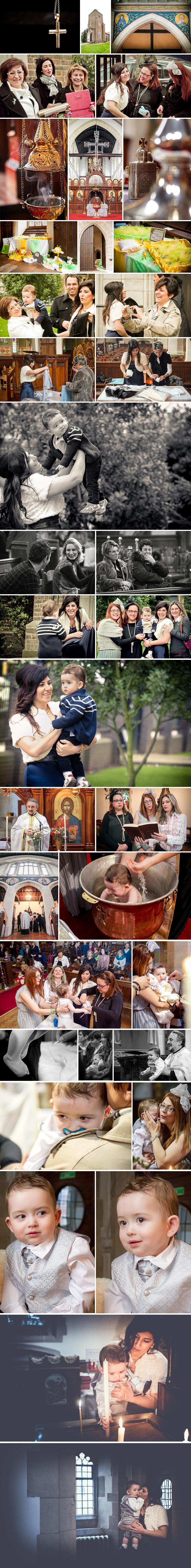 Various shots of Sean's christening in Golders Green