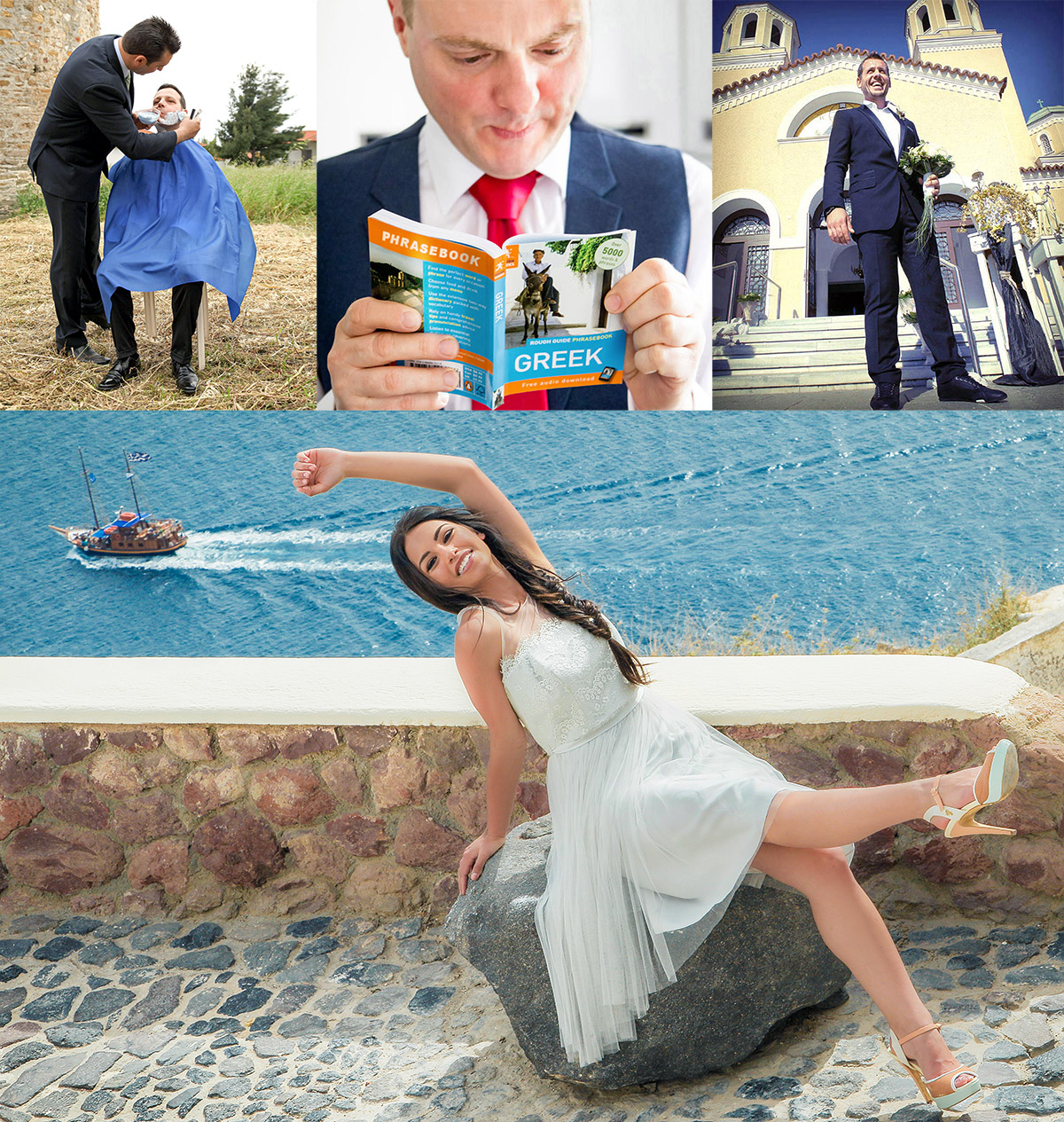 Several Greek wedding traditions
