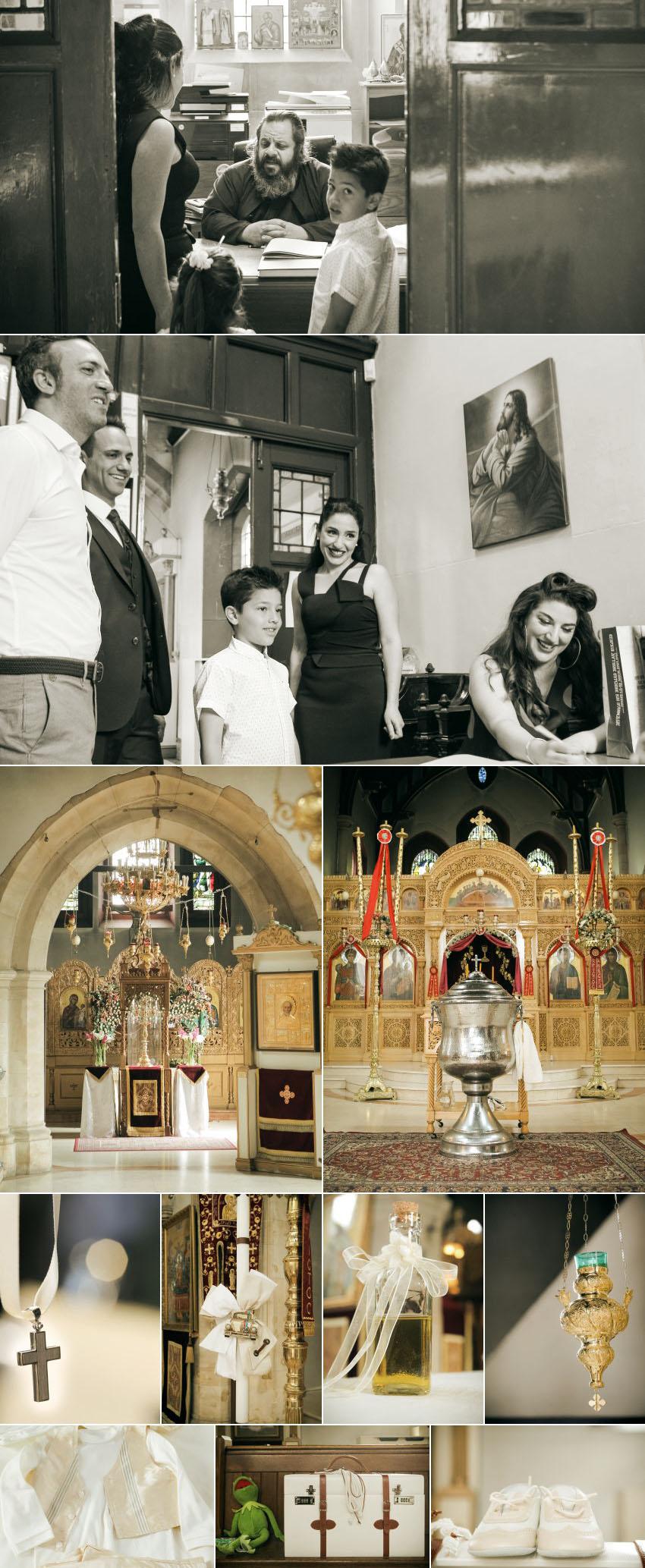 An orthodox Christening at St Demetrios Greek Church