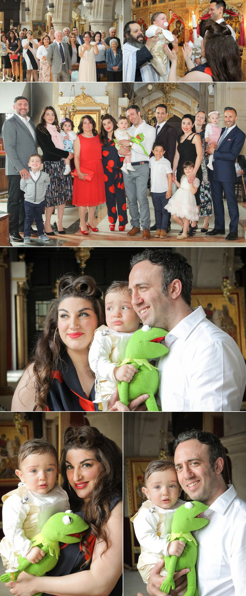 Family photos in Orthodox christening