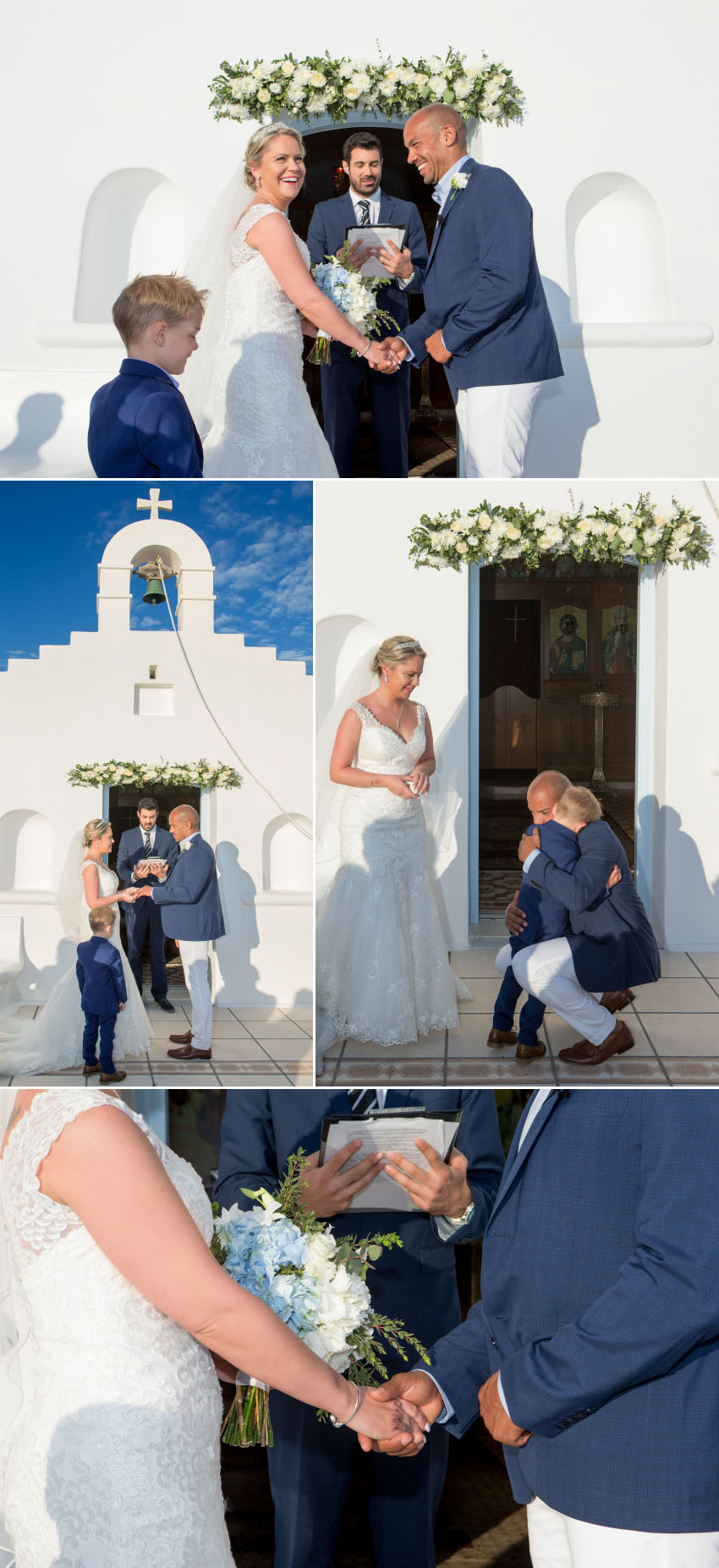 Ceremony photograph from a wedding photography in Mykonos