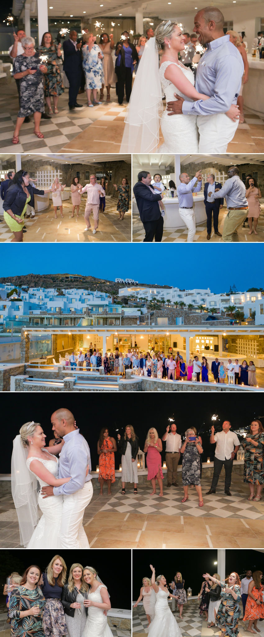 A Mykonos wedding photography of the reception