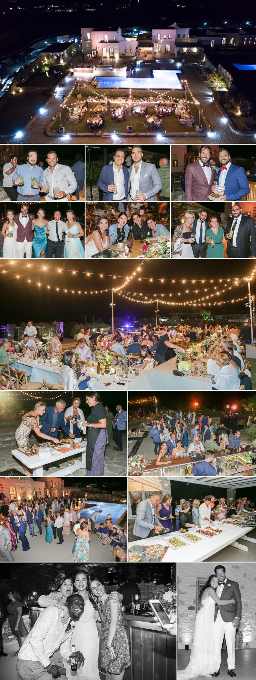 Wedding reception in Paros