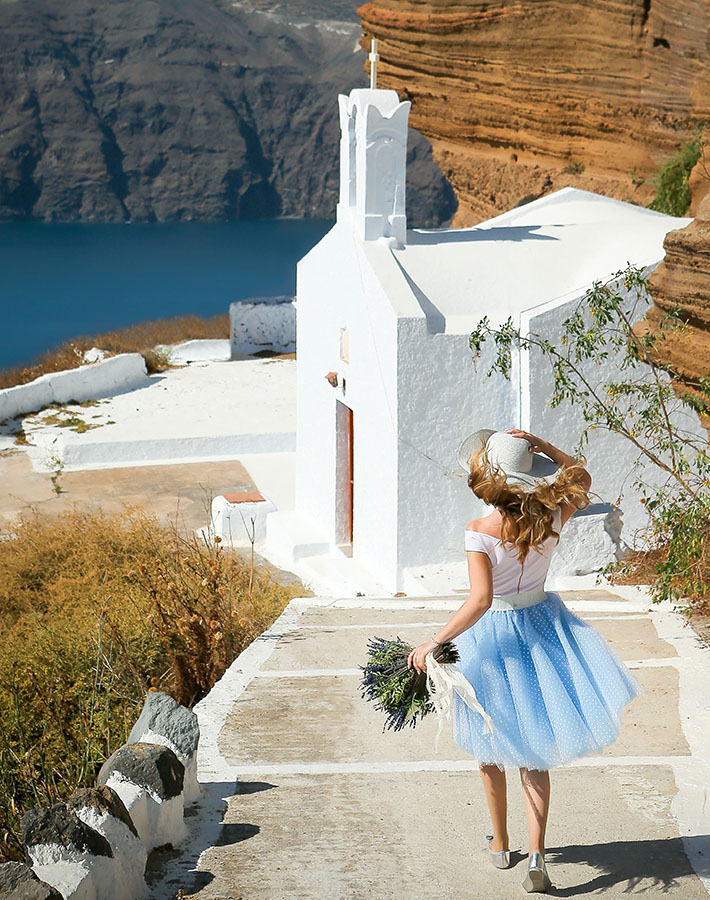 Photography sample of Santorini photoshoot